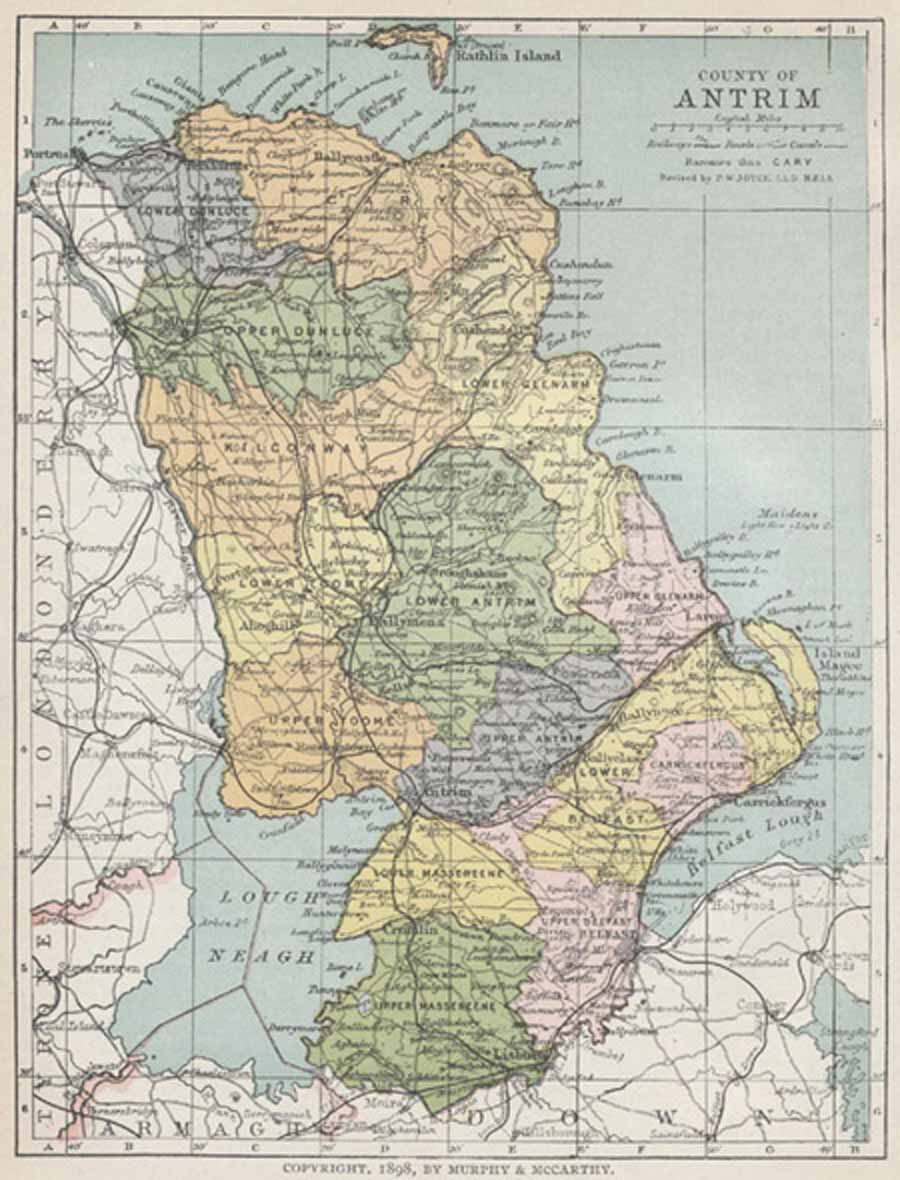 Pdf Map Of Ireland.Map Of County Antrim