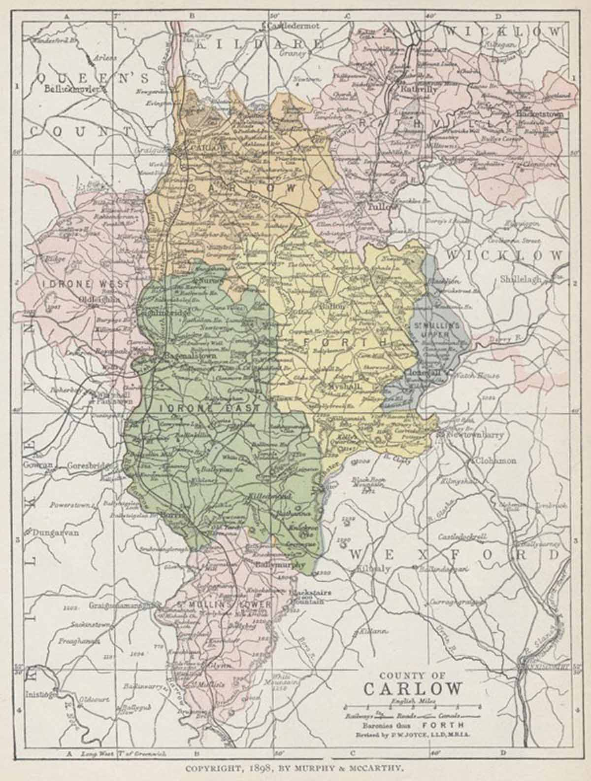 Maps Ireland Counties County Carlow Map