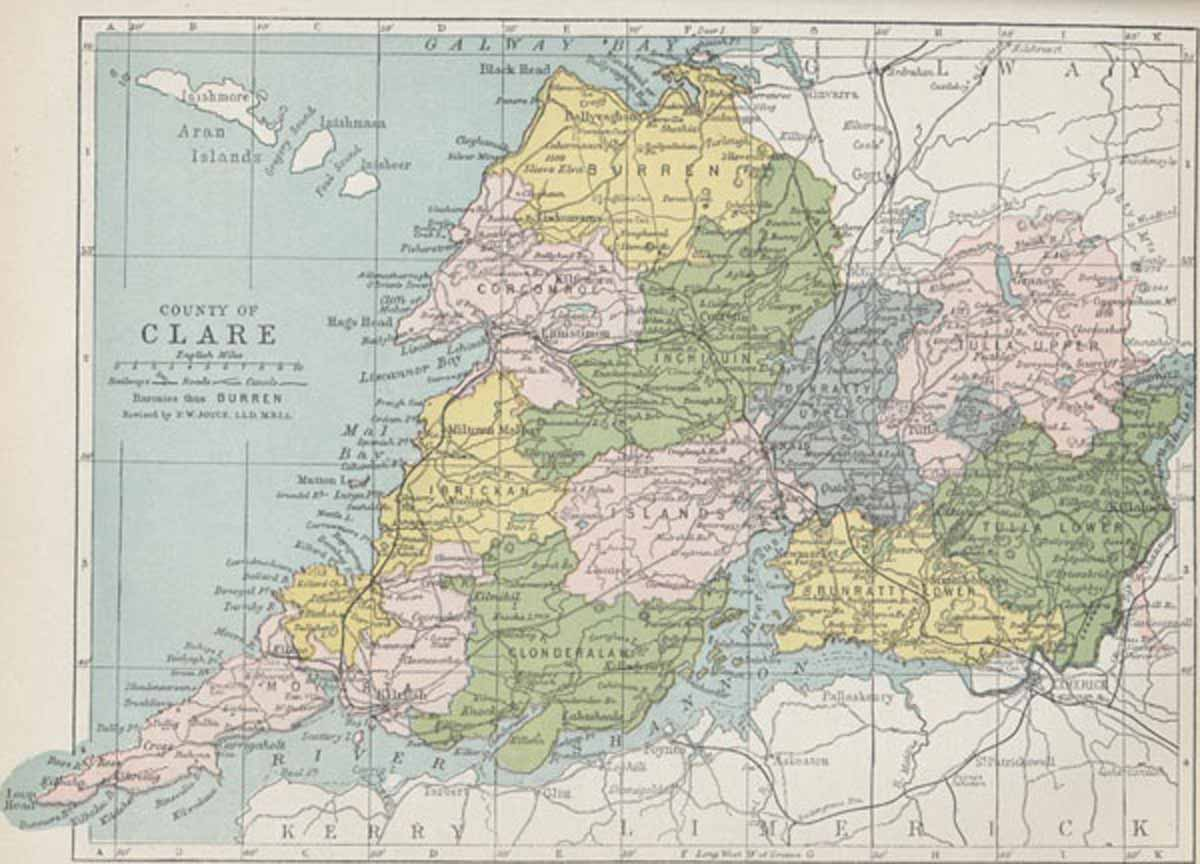 County Clare Map Map of County Clare