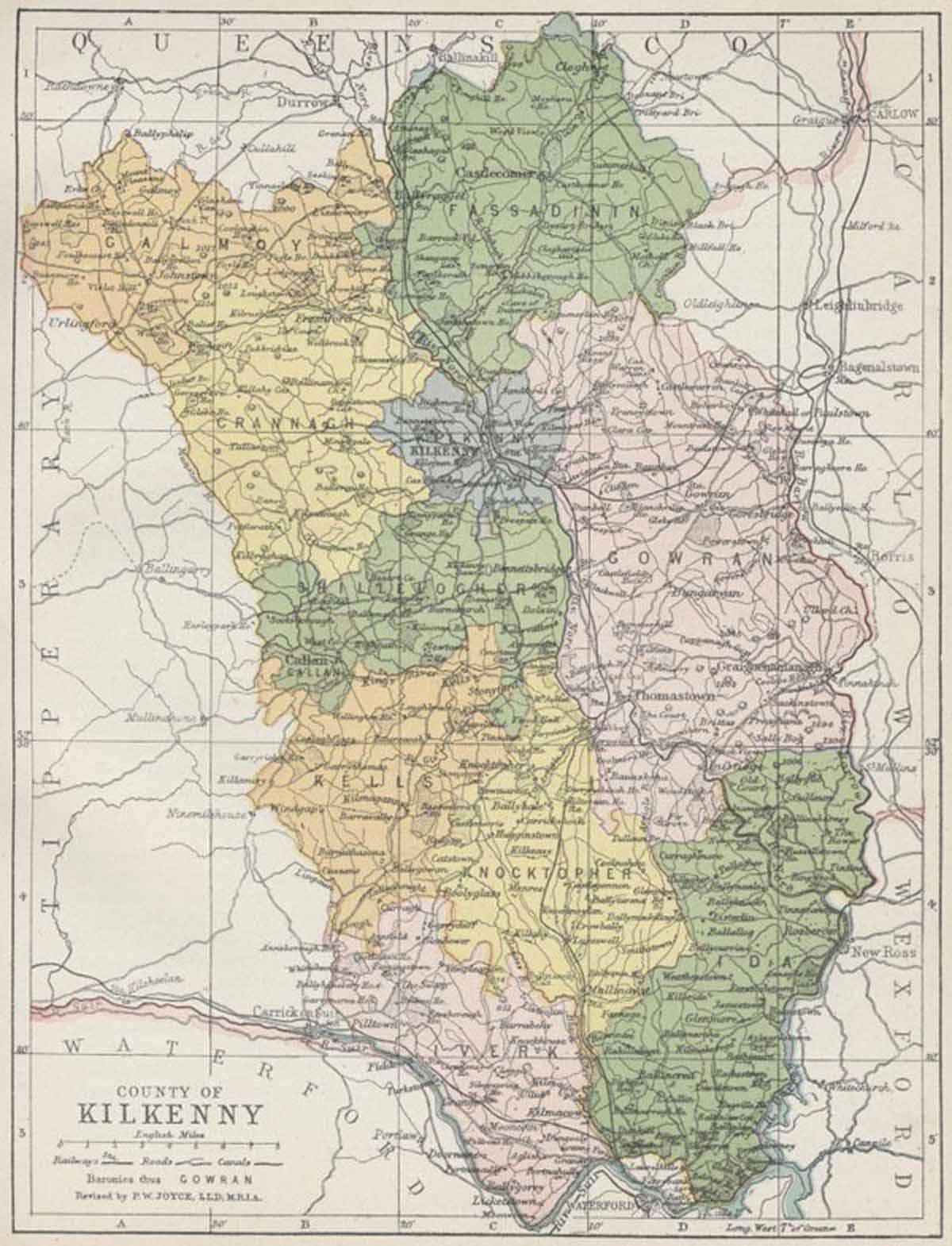 Maps Ireland Counties County Kilkenny Map