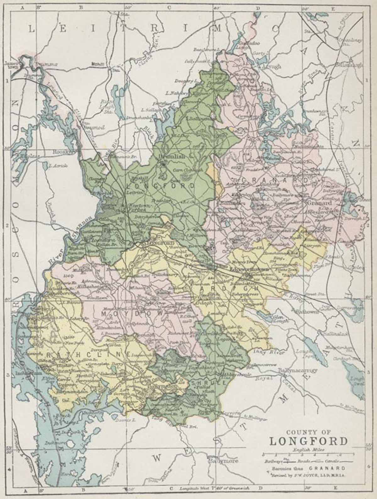 Map Of Ireland Longford.Map Of County Longford