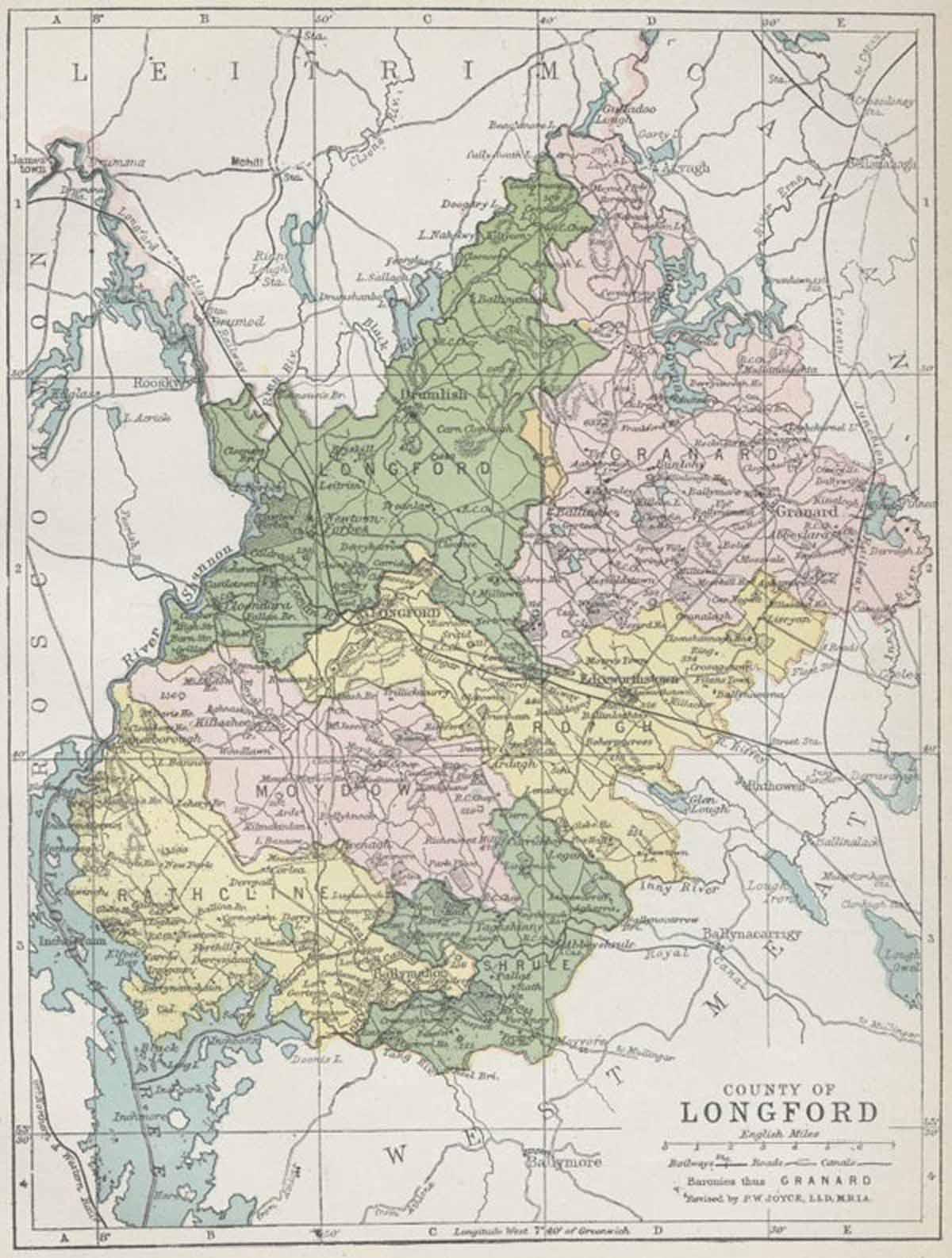 Maps Ireland Counties County Longford Map