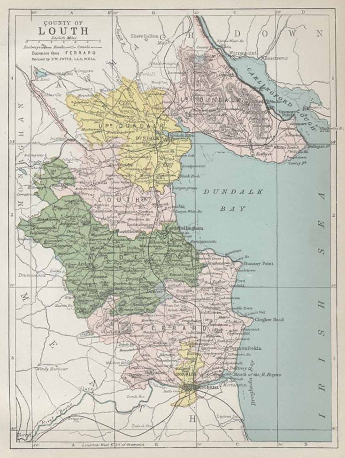 Map Of Ireland Louth.Map Of County Louth
