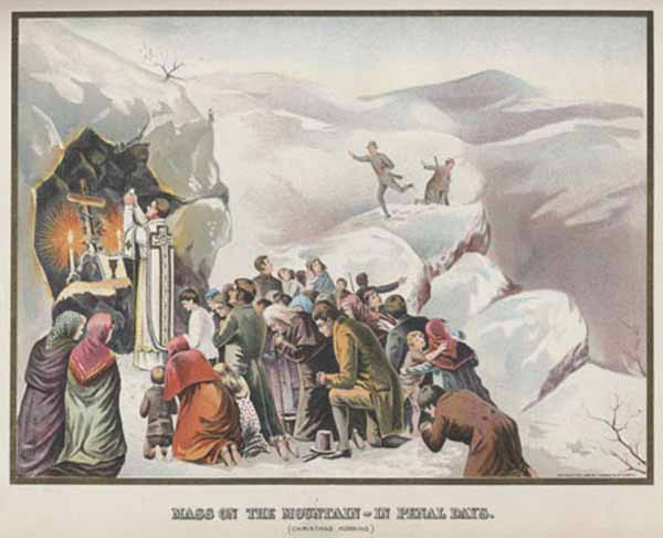 Mass on the Mountain in Penal Days
