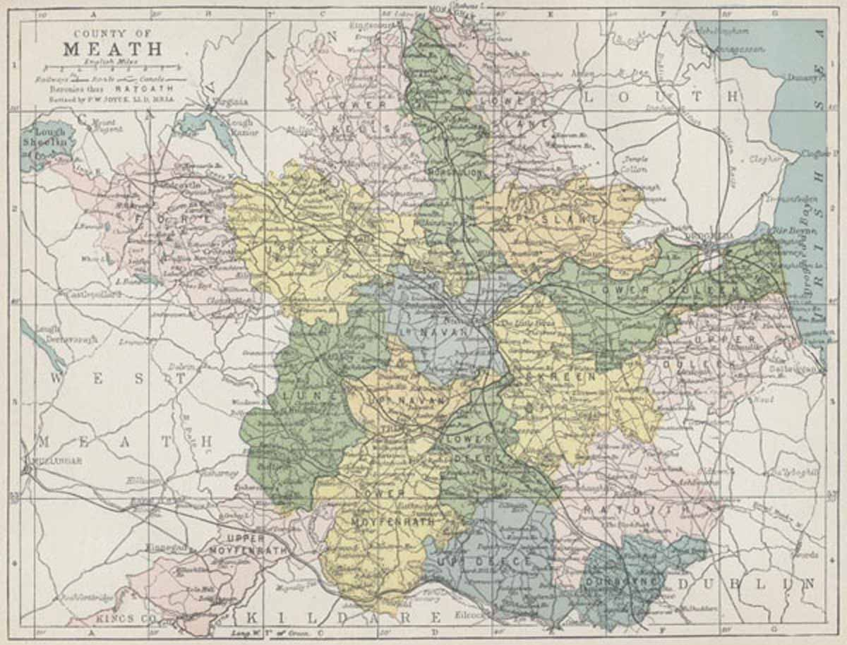 Map Of Co Meath Ireland.Map Of County Meath