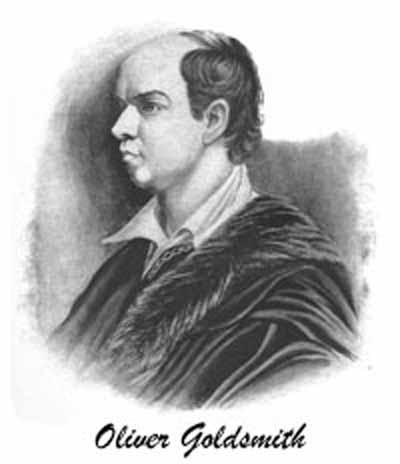 Portrait of Oliver Goldsmith