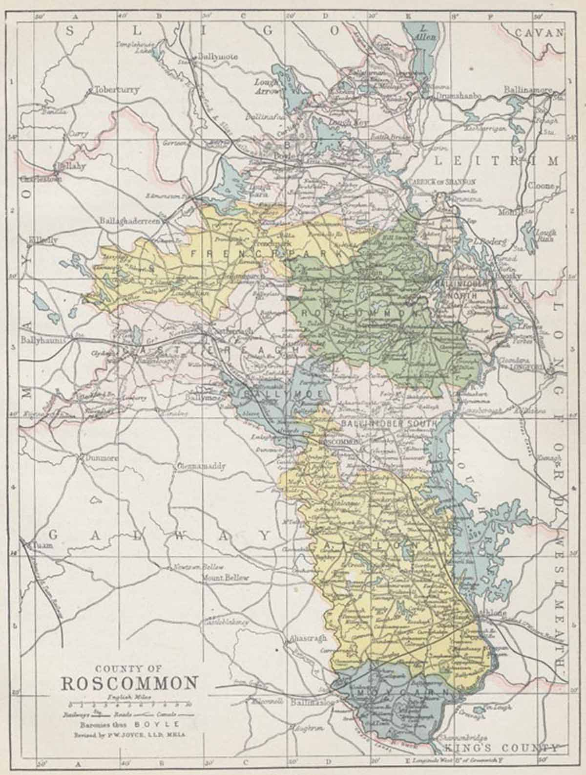 County Roscommon Map