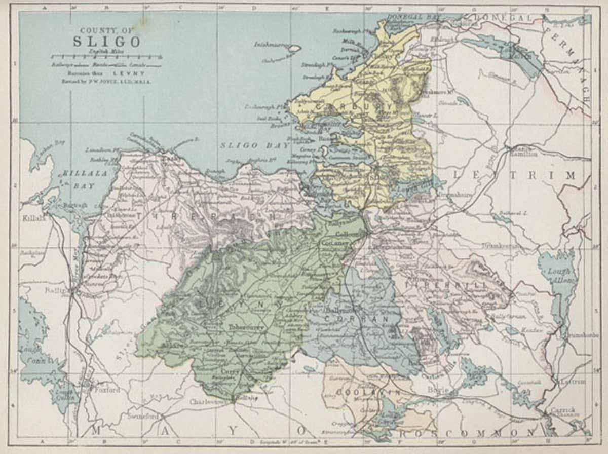 Sligo Map Of Ireland.Map Of County Sligo
