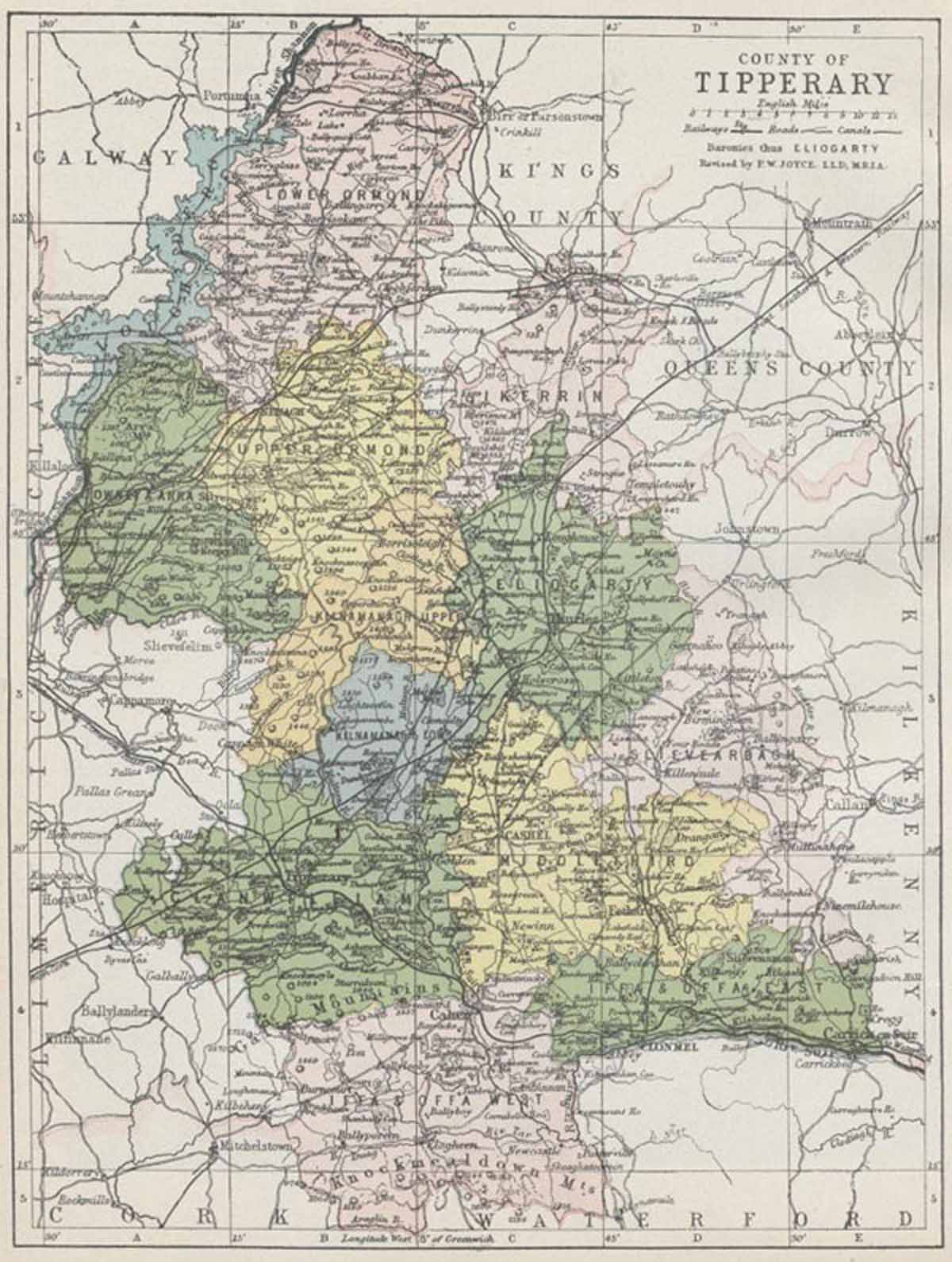 Map Of County Tipperary
