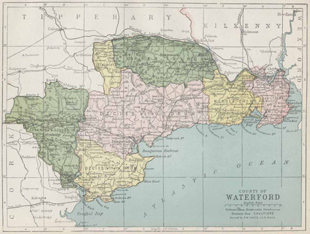 Map Of Waterford Ireland.Map Of County Waterford