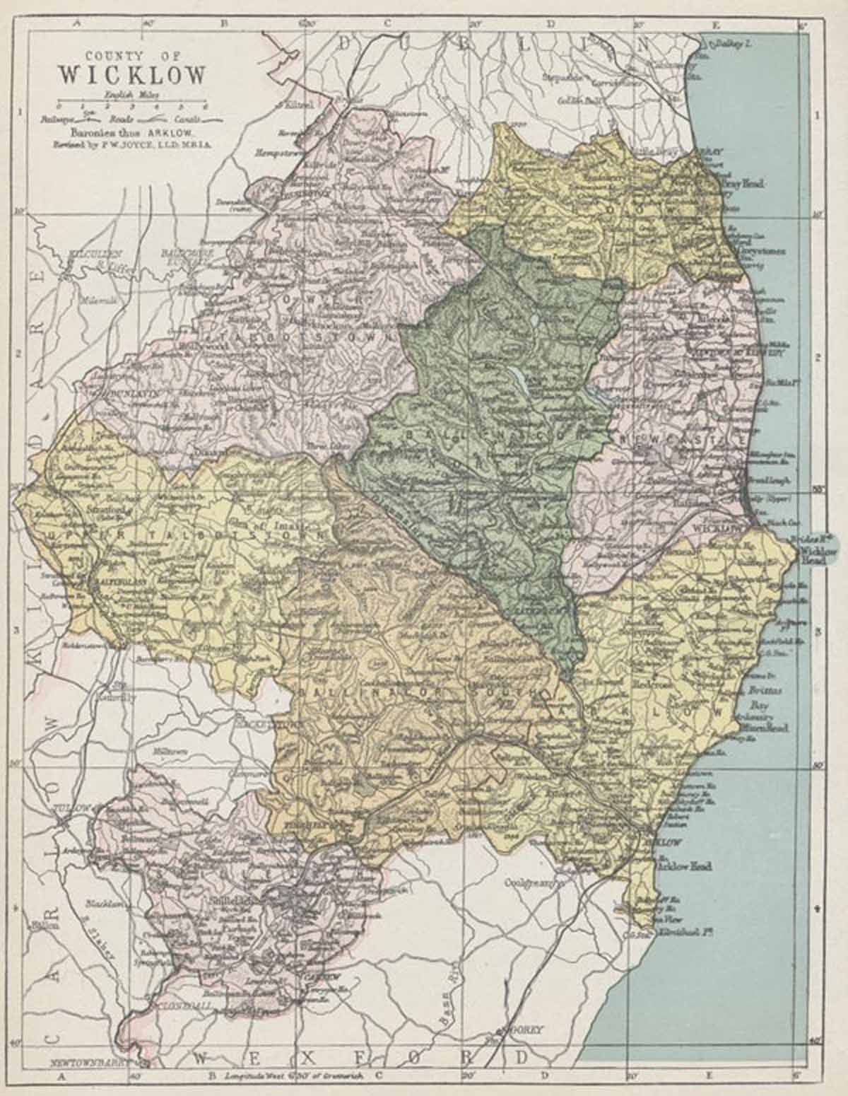 Maps Ireland Counties County Wicklow Map