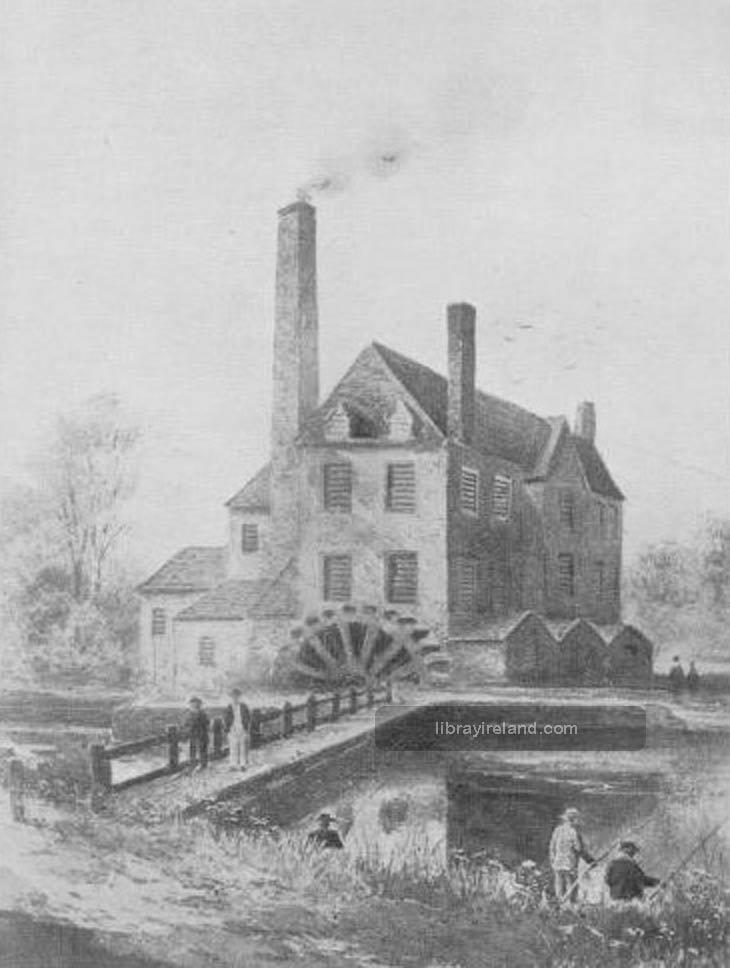 Francis Joy's Paper Mill, Belfast, 1800