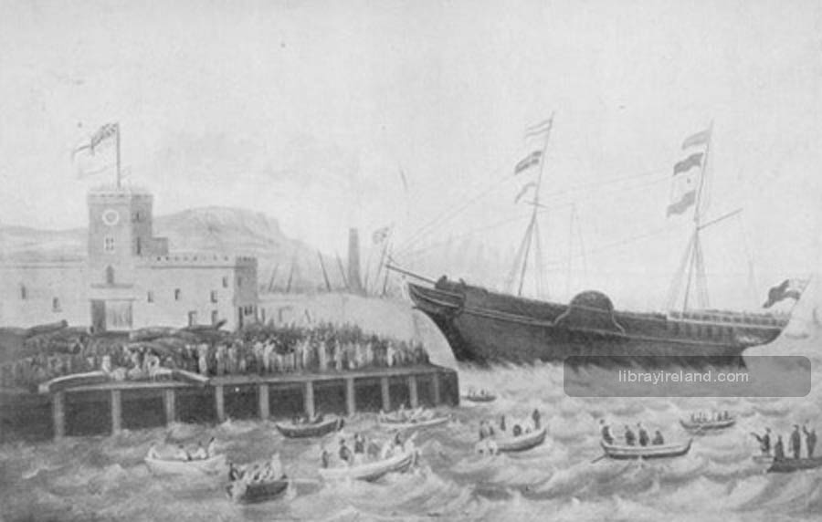Launch of the First Wooden Steamship, Aurora, Belfast, 1824