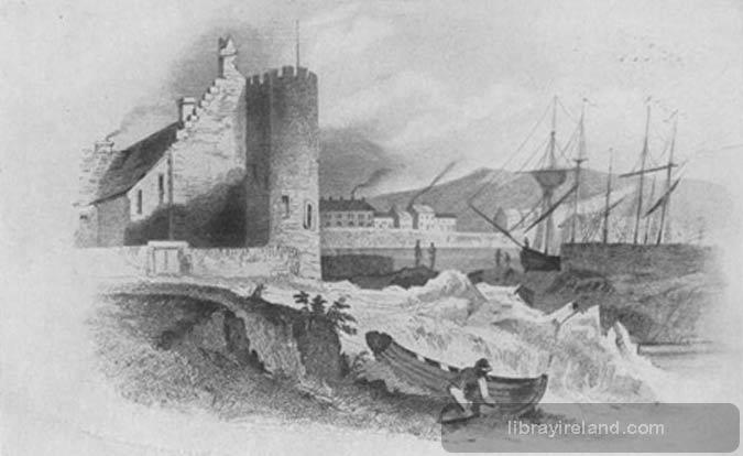 Old Castle in Bangor, 1600