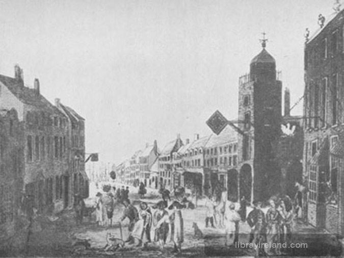 High Street, Belfast, in 1730