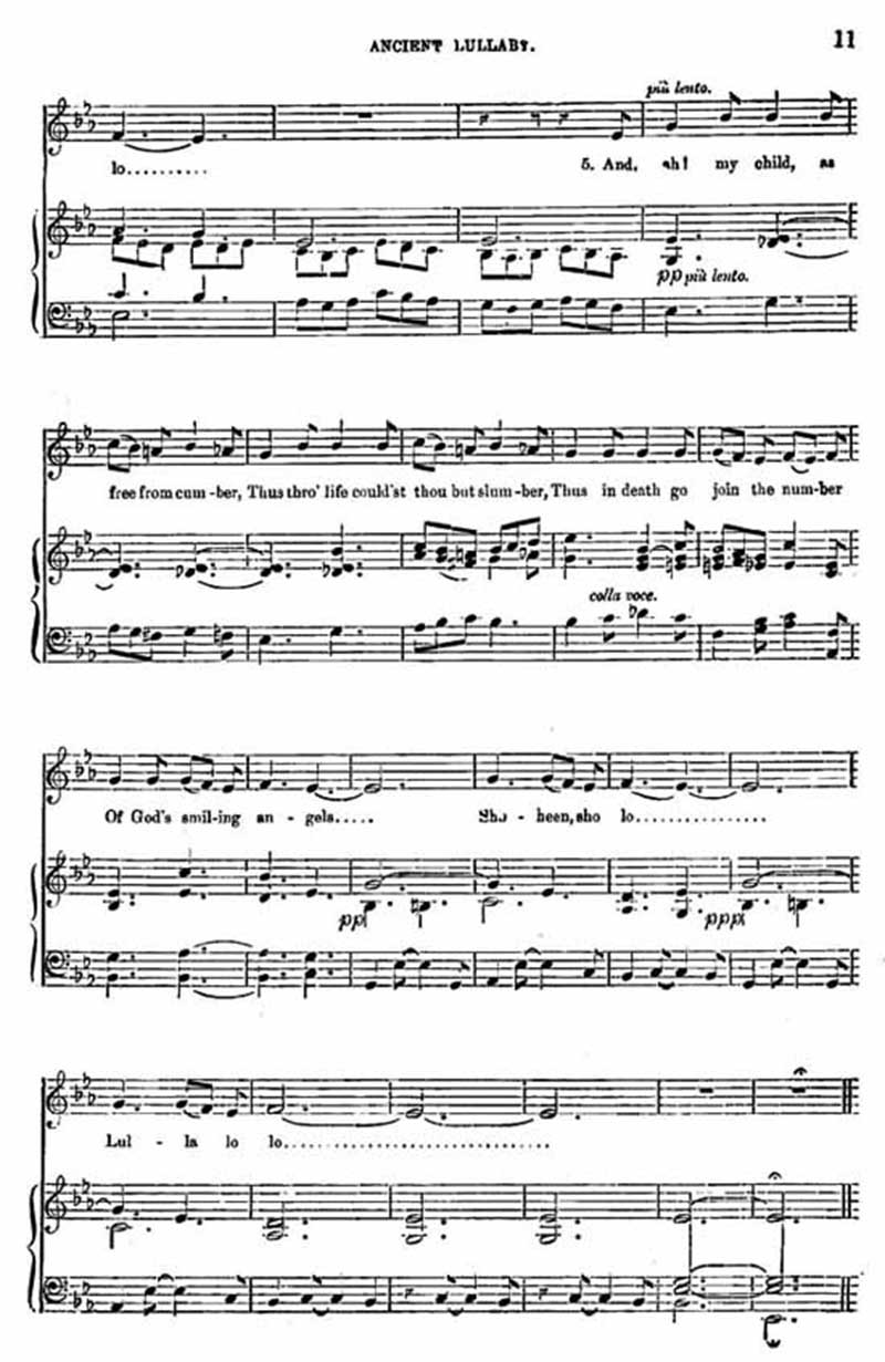 Music score to Ancient Lullaby