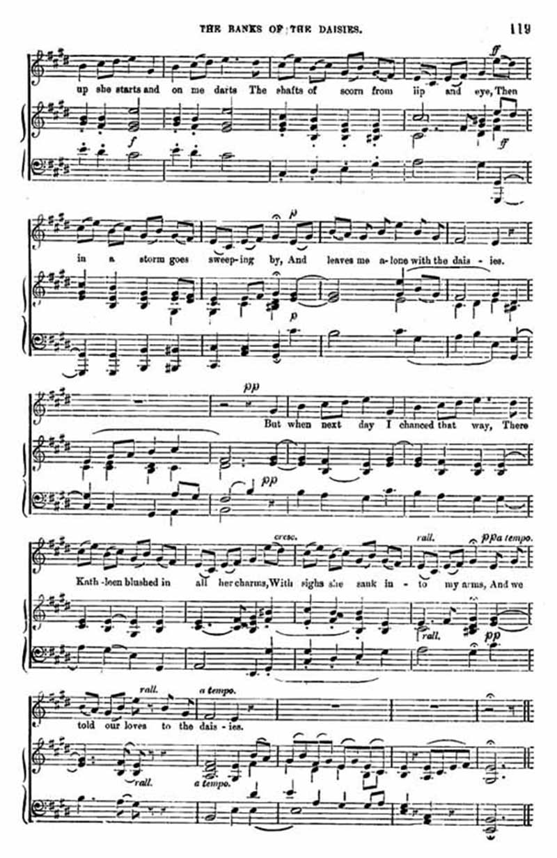 Music score to Banks of the Daisies