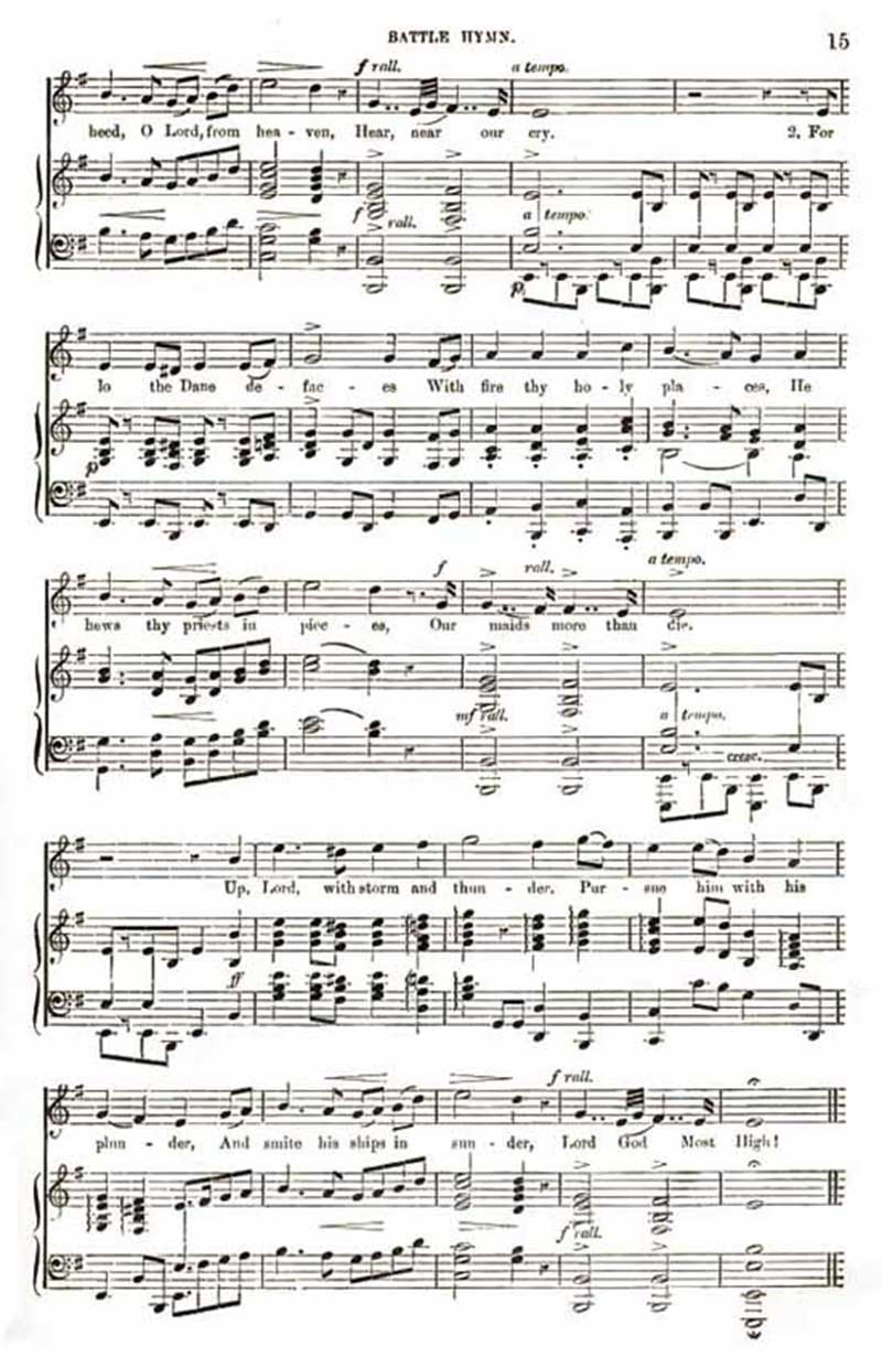 Music score to Battle Hymn