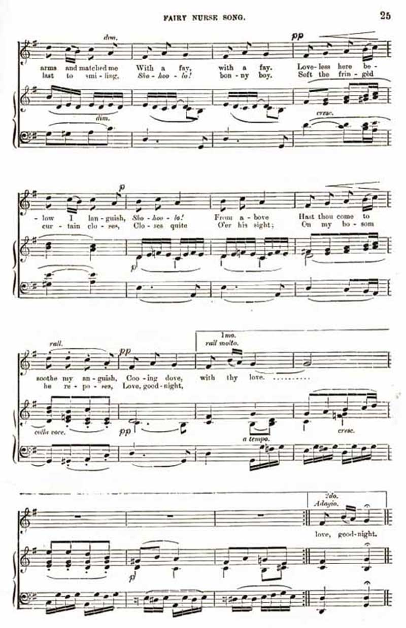 Music score to Fairy Nurse Song