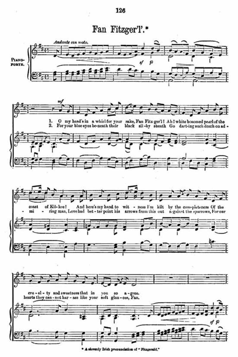 Music score to Fan Fitzger'l