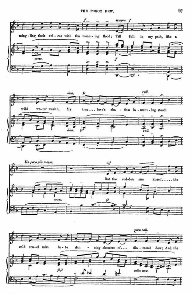 Music score to Foggy Dew