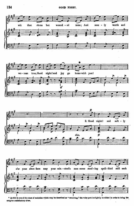 Music score to Good Night