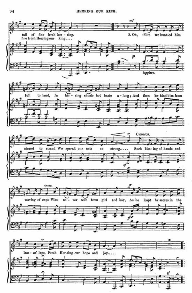 Music score to Herring our King
