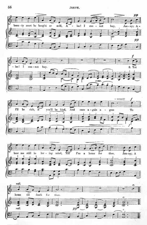 Music score to Jenny