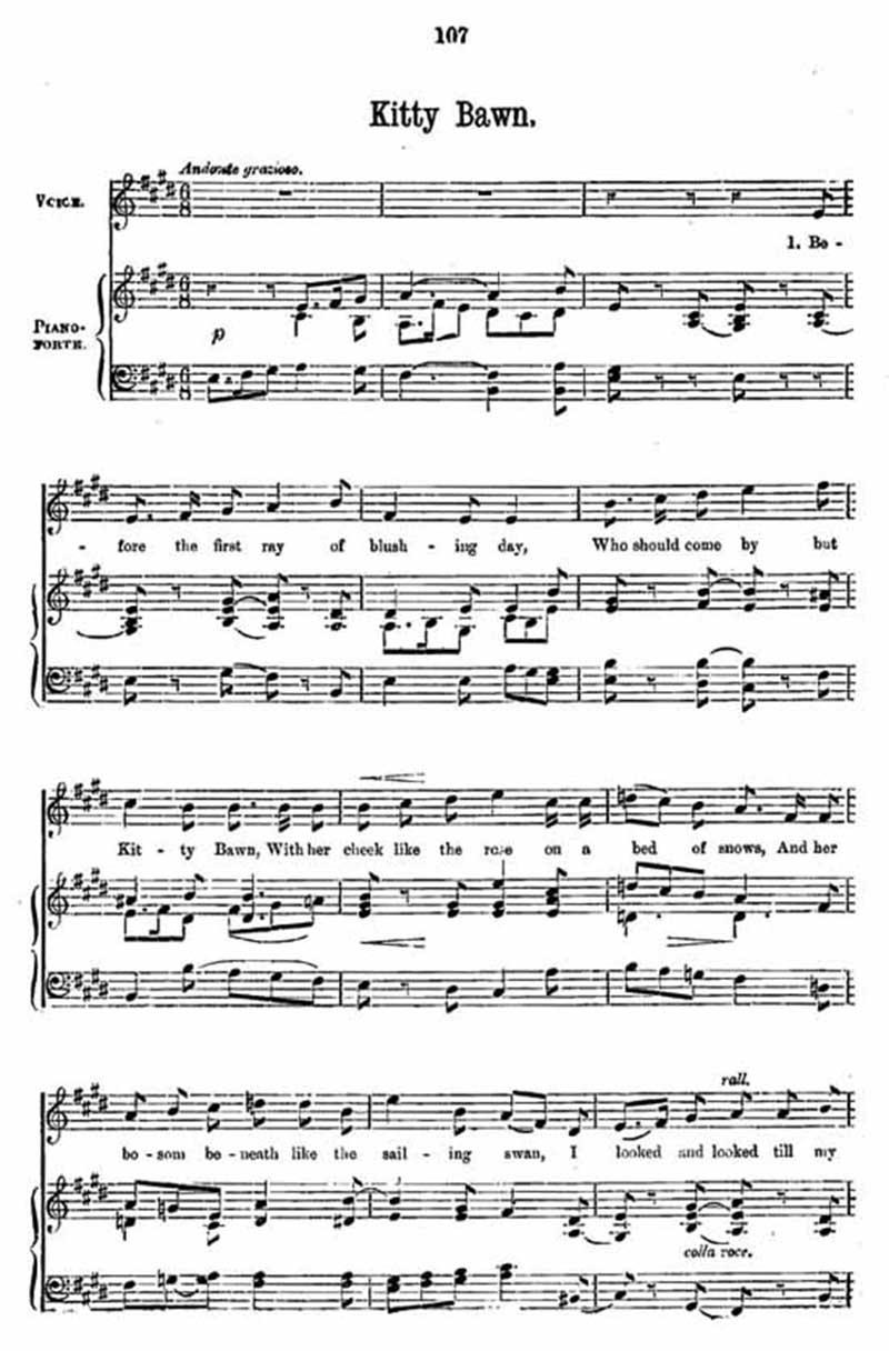 Music score to Kitty Bawn