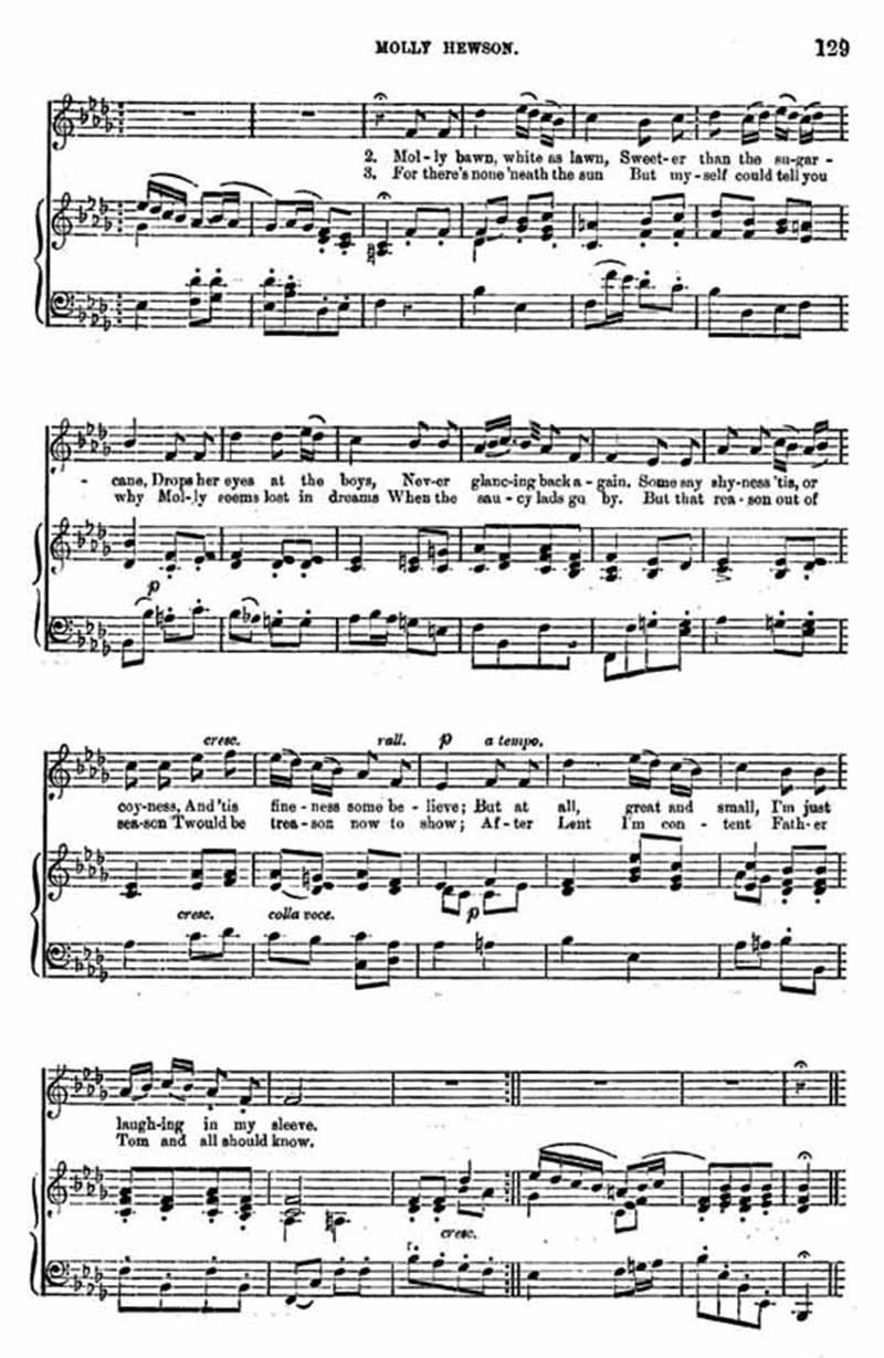 Music score to Molly Hewson