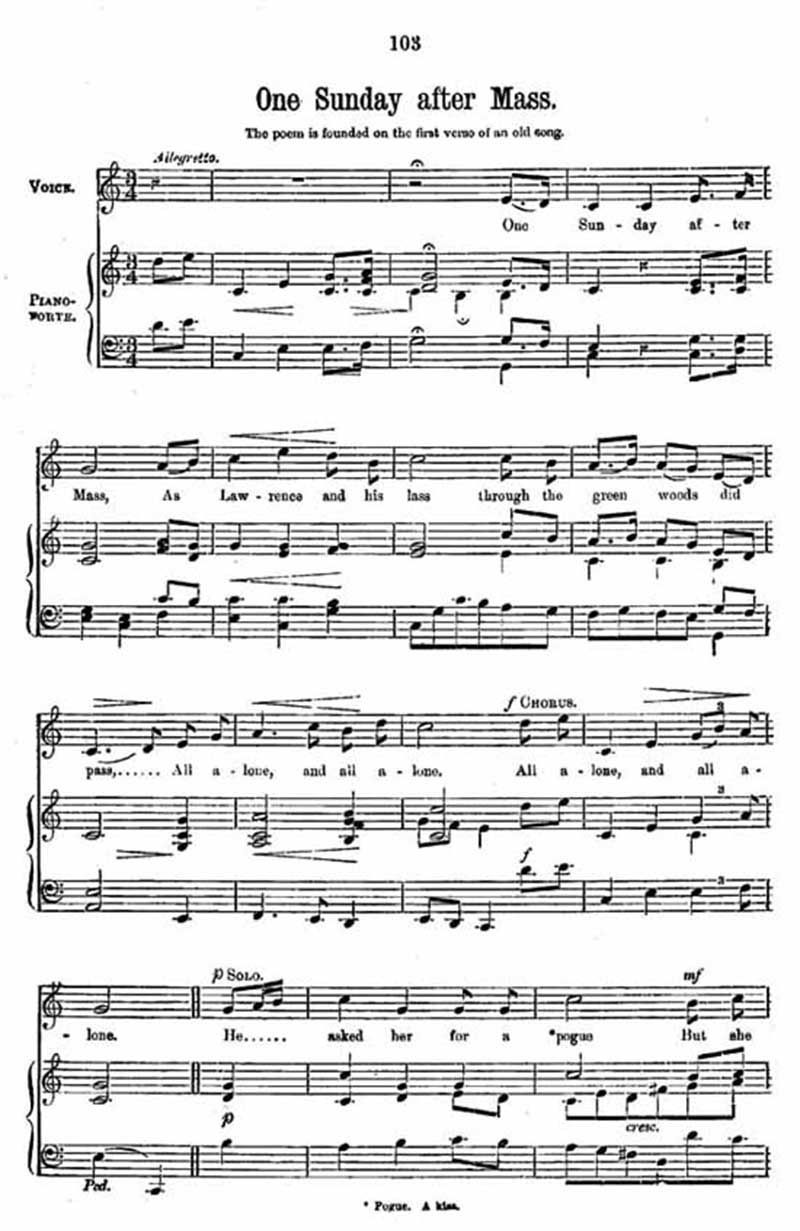 Music score to One Sunday after Mass