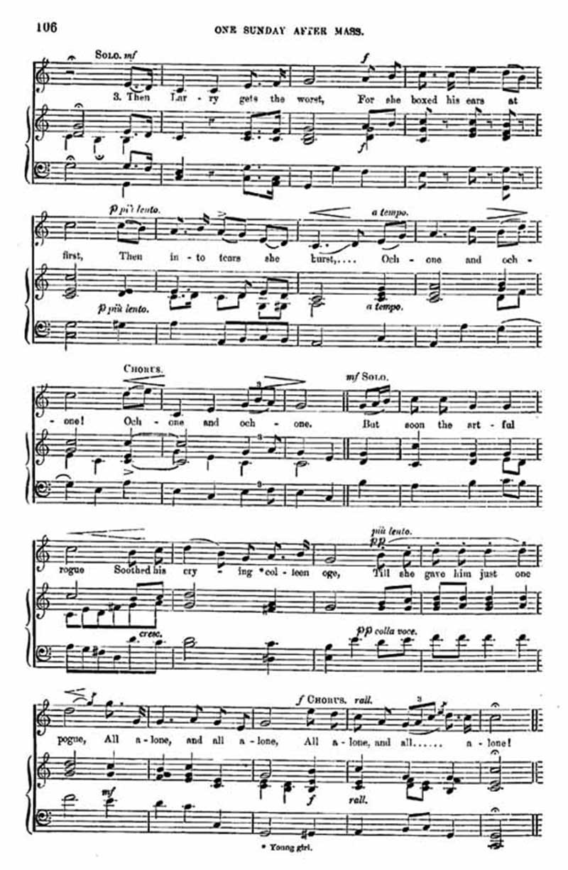 Music score to One Sunday after Mass