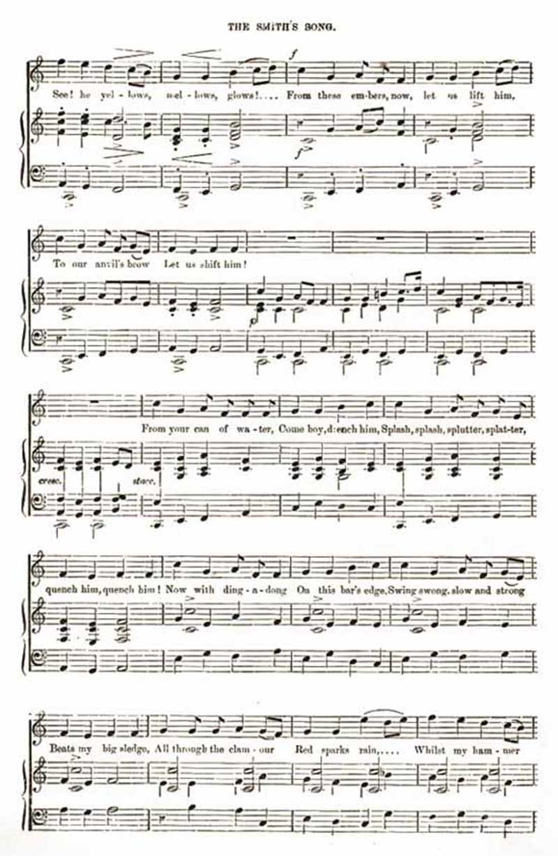 Music score to The Smith's Song
