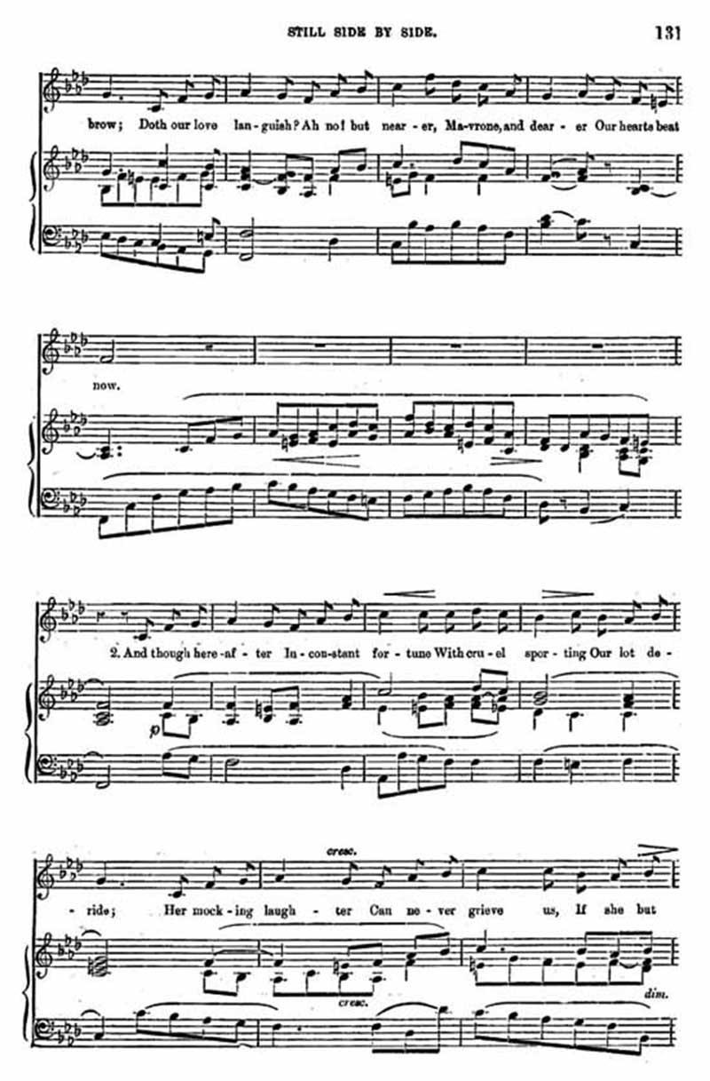 Music score to Still side by side
