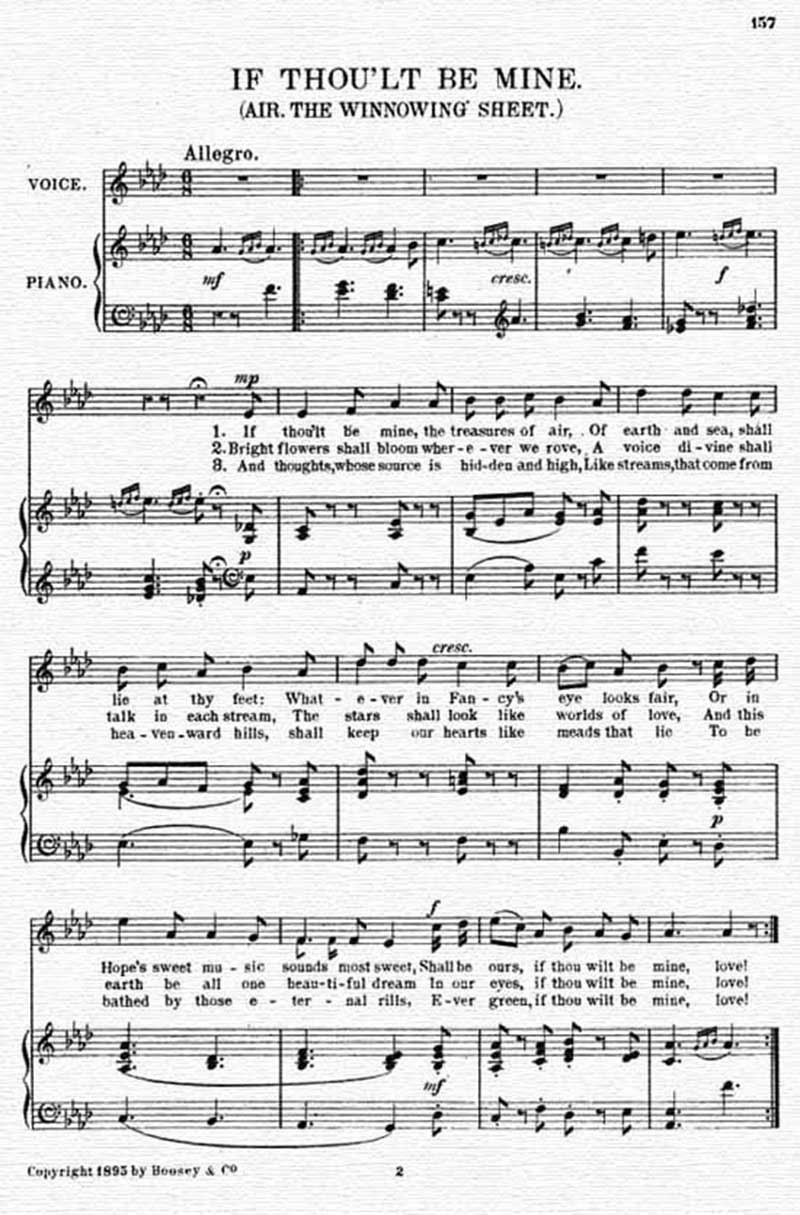 Music score to If thou'lt be mine
