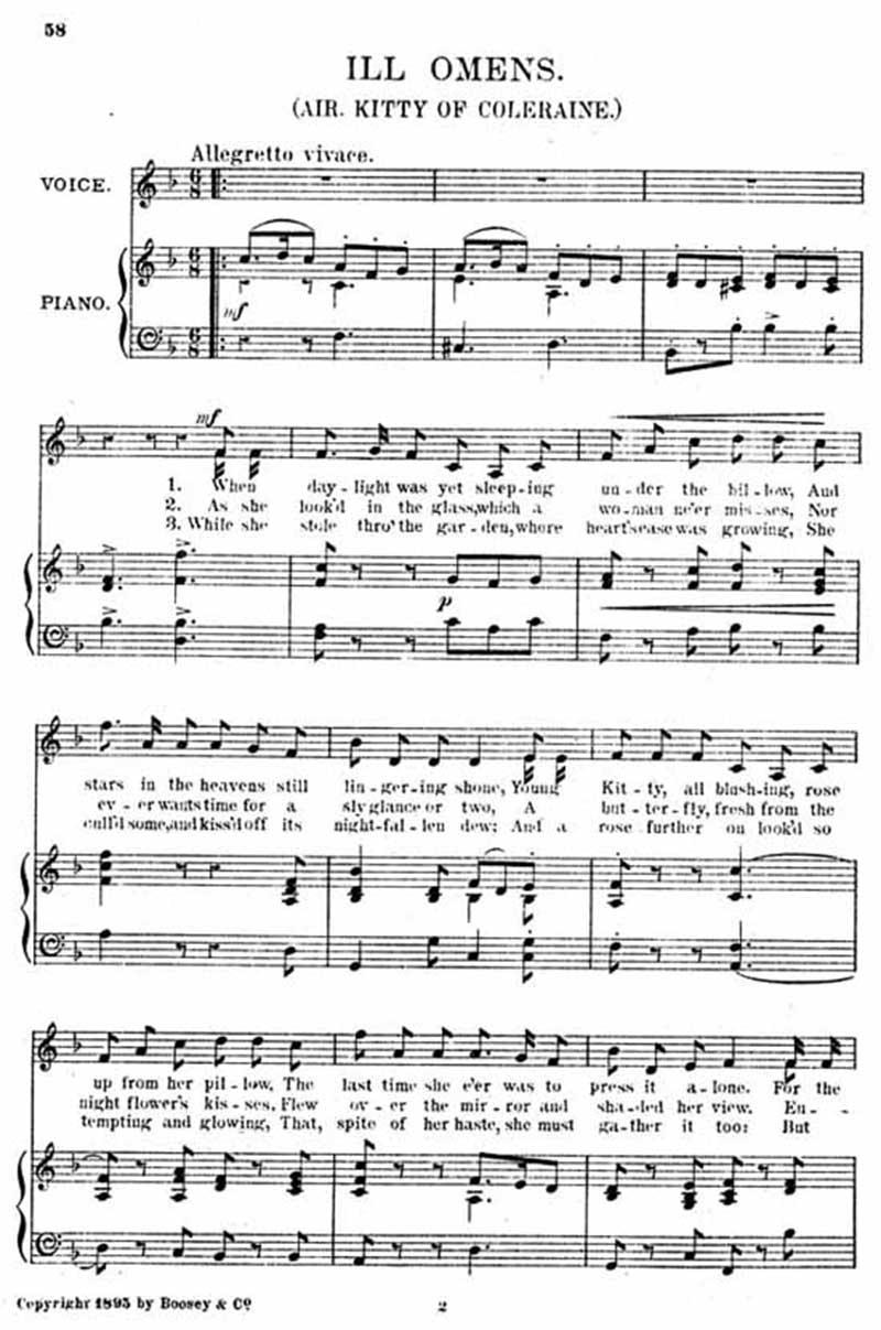 Music score to Ill omens