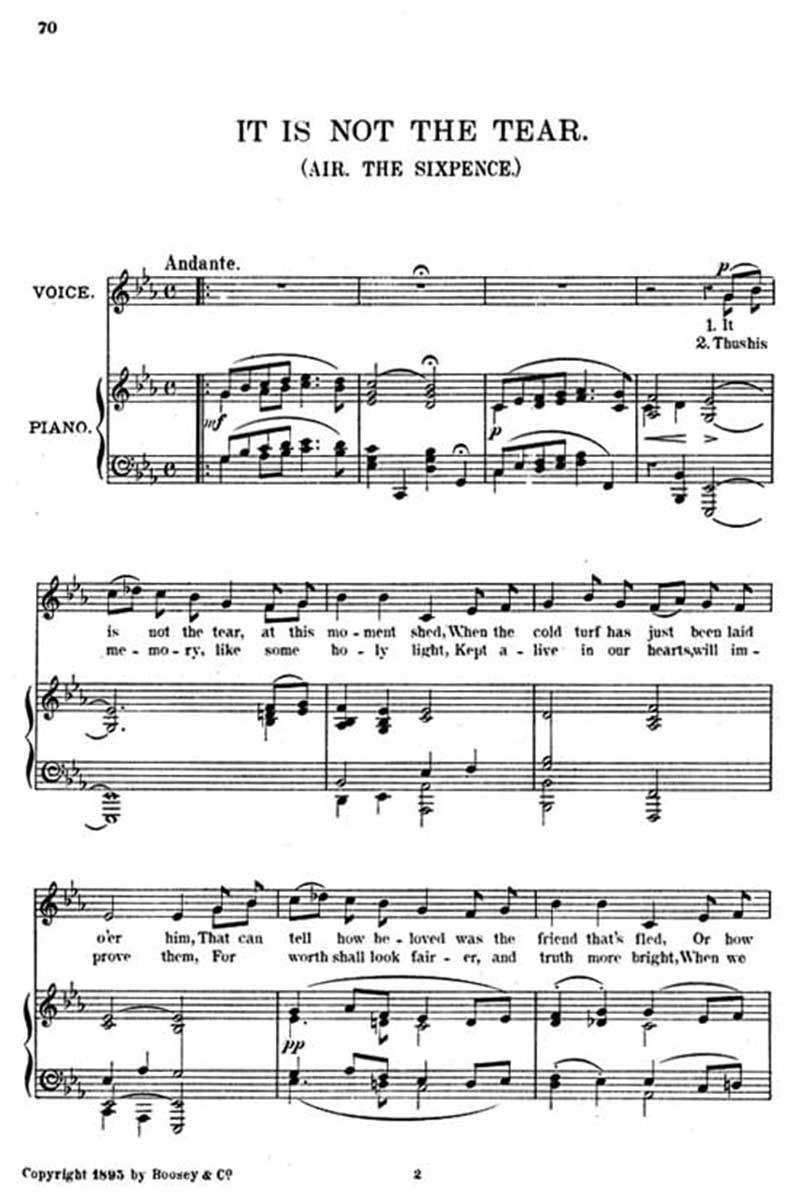 Music score to On music