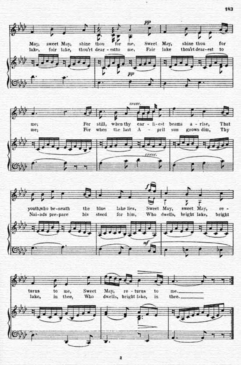 Music score to O'Donoghue's mistress