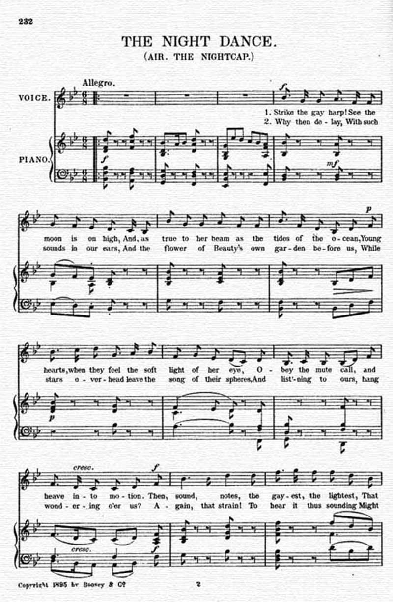 Music score to The night dance