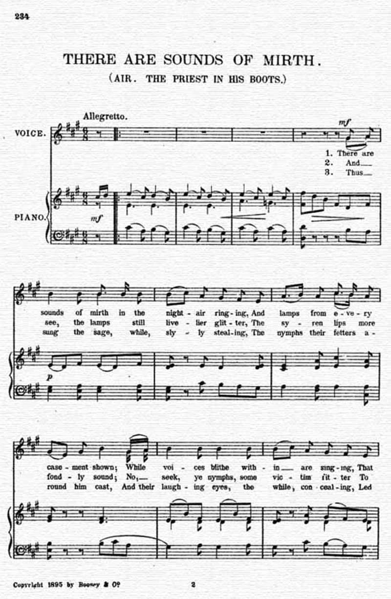 Music score to There are sounds of mirth