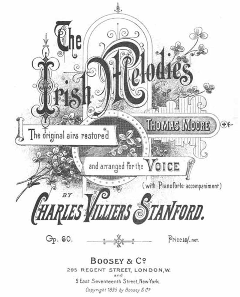Title page to Moore's Irish Melodies