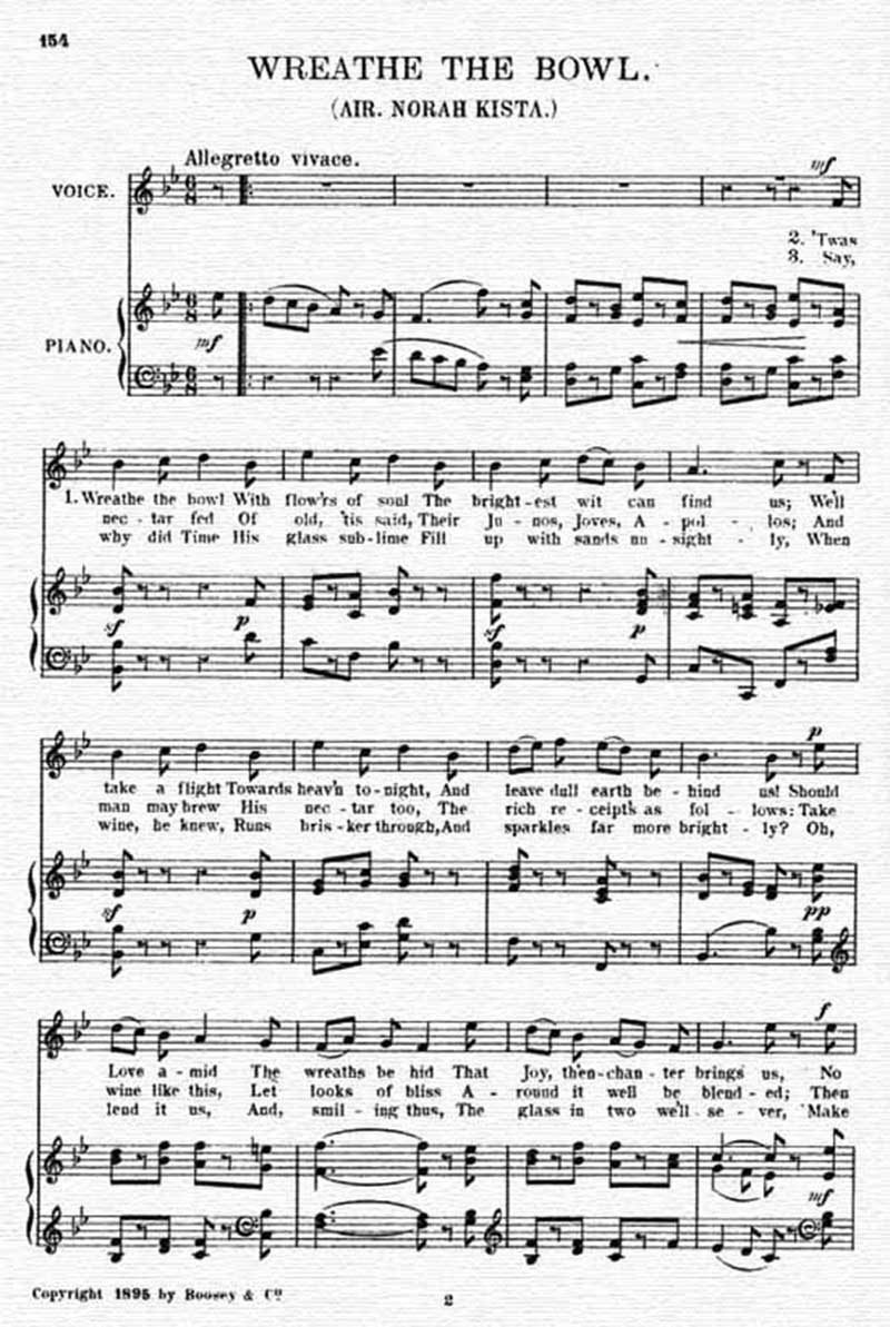 Music score to Wreathe the bowl