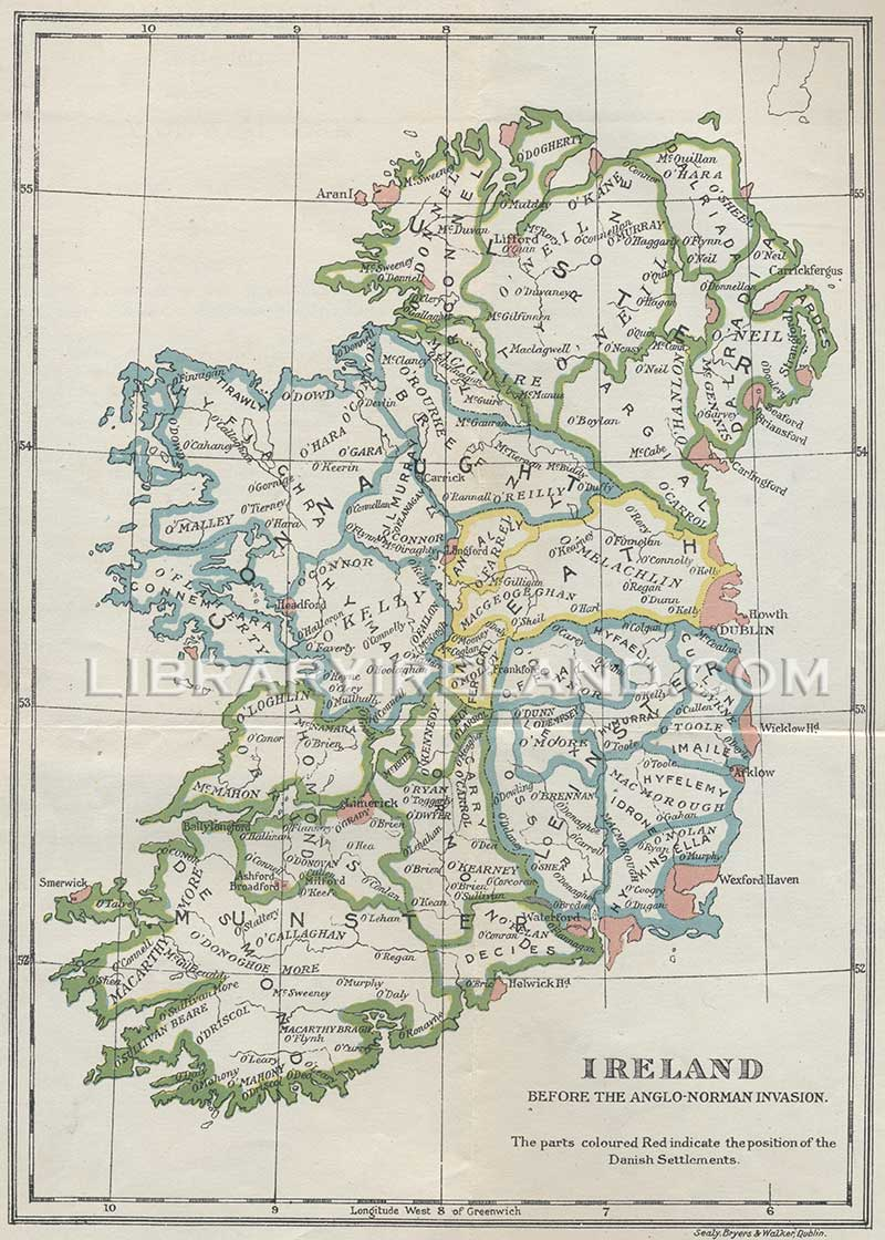 Map Of The West Of Ireland.Map Of Ireland Before The Anglo Norman Invasion History Of West Cork