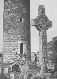 Monasterboice Round Tower and Cross (A.D. 921)
